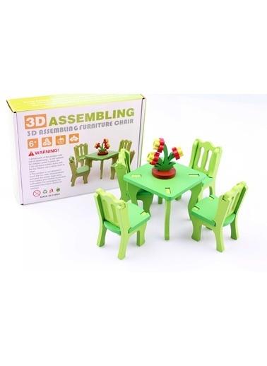 3D Ahşap Maket Mobilya Koltuk Takımı-Learning Toys